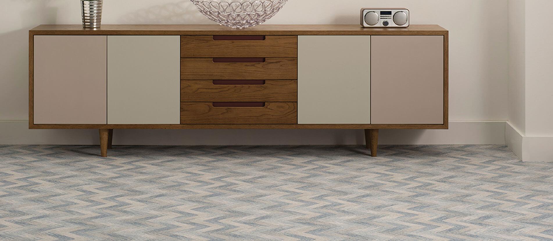 Zig-Zag Multi-Color Carpet